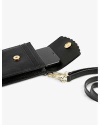 Ted Baker Black Scalloped Leather Cross-body Phone Pouch