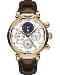 Iwc Metallic Iw392101 Perpetual Calendar Chronograph Watch for men