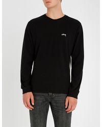 Stussy Black Logo Sweatshirt for men