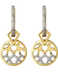 Links of London - Metallic Timeless Gold 18ct Yellow-gold And Diamond Earrings - Lyst