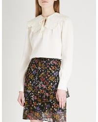 See By Chloé - White Cheesecloth Cotton Blouse - Lyst