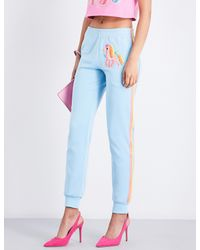 Moschino Blue My Little Pony Cotton-blend Jogging Bottoms