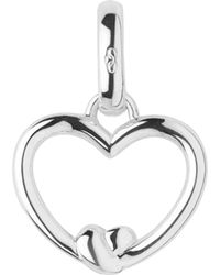 Links of London - Metallic Tie The Knot Sterling-silver Heart Charm - Lyst