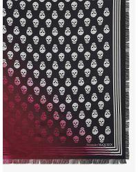 Alexander McQueen Multicolor Skull-print Dip-dye Woven Scarf