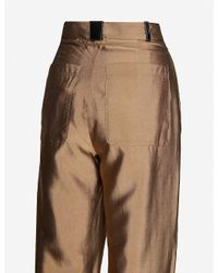 Stine Goya Brown Chet Wide-leg High-rise Crepe Trousers