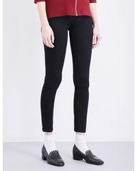 Claudie Pierlot - Black Powerful Bis Skinny High-rise Jeans - Lyst