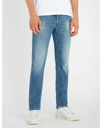 Replay Blue Grover Ripped Slim-fit Jeans for men