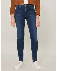 Citizens of Humanity Blue Rocket Skinny Mid-rise Jeans
