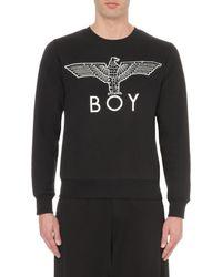 BOY London - Black Eagle Logo Cotton-jersey Sweatshirt for Men - Lyst