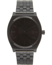 Nixon - Black Time Teller Metal Watch for Men - Lyst
