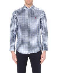 Pink Pony - Blue Estate Solid Linen Shirt for Men - Lyst
