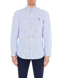 Polo Ralph Lauren | Blue Regular-fit Single-cuff Striped Cotton Shirt for Men | Lyst