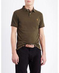 Polo Ralph Lauren | Green Slim-fit Cotton-jersey Polo Shirt for Men | Lyst