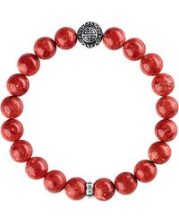 Thomas Sabo | Red Rebel At Heart Sterling Silver Bracelet | Lyst