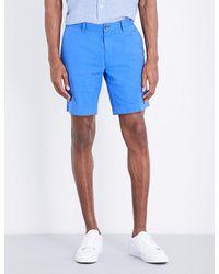 Polo Ralph Lauren | Blue Straight-fit Cotton Shorts for Men | Lyst