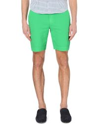 Polo Ralph Lauren | Green Newport Straight-fit Cotton Shorts for Men | Lyst