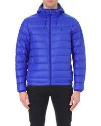 Polo Ralph Lauren Blue Quilted Shell Jacket for men