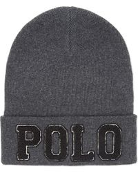 Polo Ralph Lauren | Gray Chenille Varsity Beanie for Men | Lyst