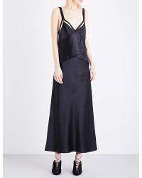 Dion Lee | Blue Frame Silk-satin Dress | Lyst