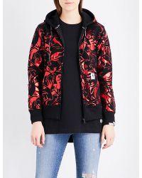 Aape Red Metallic Camo-print Jersey Hoody