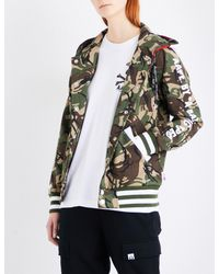 Aape Multicolor Abc Camouflage And American Flag-print Jersey Hoody