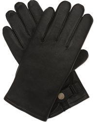 Sandro Black H16 Classic Leather Gloves for men