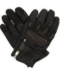 Sandro | Black Race Quilted Leather Gloves for Men | Lyst