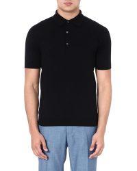 John Smedley | Blue Sea Island Cotton Polo Shirt for Men | Lyst