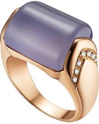 BVLGARI - Blue Mvsa 18kt Pink-gold And Diamond Ring - Lyst