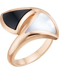 BVLGARI - Black Divas' Dream 18kt Pink-gold Ring - Lyst