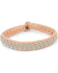 Maria Rudman | Natural Pewter Woven Bracelet | Lyst