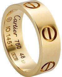 Cartier - Metallic Love 18ct Yellow-gold Ring - Lyst