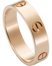 Cartier   Love 18ct Pink-gold Ring   Lyst