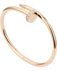 Cartier - Metallic Juste Un Clou 18ct Pink-gold And Diamond Bracelet - Lyst