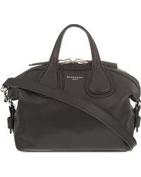 Givenchy | Black Nightingale Micro Leather Tote | Lyst