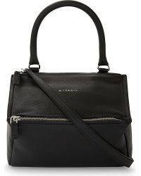 Givenchy | Black Pandora Sugar Medium Grained Leather Shoulder Bag | Lyst