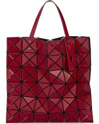 Bao Bao Issey Miyake Red Lucent Glossy Prism Shopper