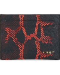 Givenchy - Degrade Python-print Textured Leather Card Holder for Men - Lyst