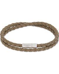 Tateossian - Metallic Double Wrap Leather Bracelet - Lyst