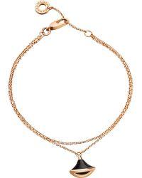 BVLGARI Metallic Diva 18ct Pink-gold And Onyx Bracelet