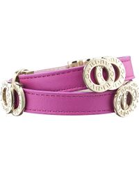BVLGARI - Purple Double-coil Leather Bracelet - Lyst