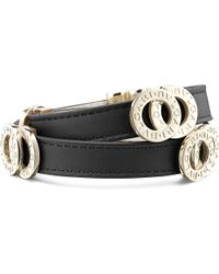 BVLGARI | Black Double-coil Leather Bracelet | Lyst