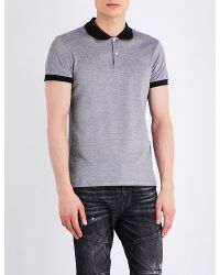 Versus  | Black Lion-motif Cotton-jersey Polo Shirt for Men | Lyst
