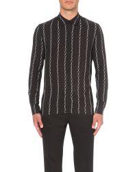 Sandro - Black Chain-print Woven Shirt for Men - Lyst