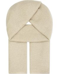 CASH CA - Natural Large Pashmina Cashmere Scarf - Lyst