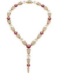 BVLGARI - Serpenti 18kt Pink-gold Rubellite - Lyst