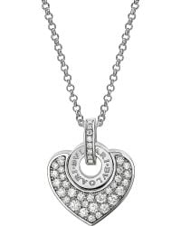 BVLGARI | Metallic - Cuore 18kt White-gold And Pave Diamond Necklace | Lyst