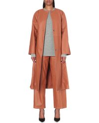 Loewe - Multicolor Oversized Leather Coat - Lyst