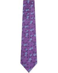 Duchamp | Purple Floral Silk Tie for Men | Lyst