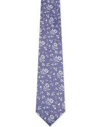 Duchamp | Purple Floral Pattern Silk Tie for Men | Lyst